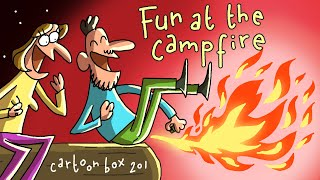 Fun At The Campfire | Cartoon Box 210 | by Frame Order | Farting Challenge Cartoon