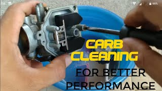 Carburetor cleaning in easy way (Tagalog)