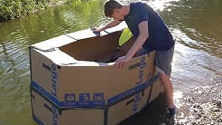 Insane Cardboard Boat In The Creek