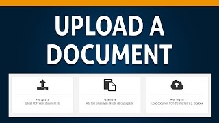 02 How to Upload a Document