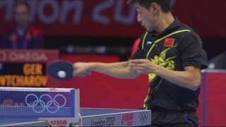Repeat youtube video Zhang Wins Men's Table Tennis Semi-Final | London 2012 Olympics
