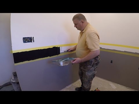 How to Use a Bosch Laser Level to Paint Perfect Stripes / How to paint two tone colors with a border