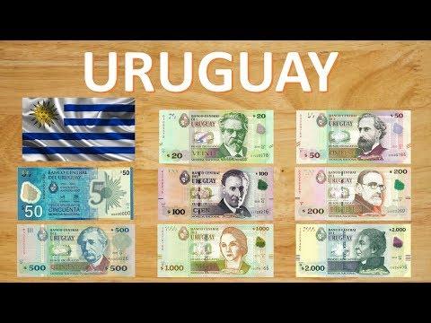 Billetes que circulan Actualmente en Uruguay – Pesos Uruguayos (2018)