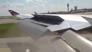 Virgin Atlantic 747-400 series landing at Orlando, Florida from Glasgow. 18th July 2014.