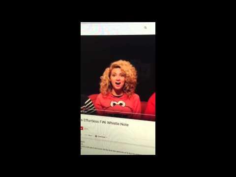 Tori Kelly Whistle Tone.... I CAN DO THAT!!!!
