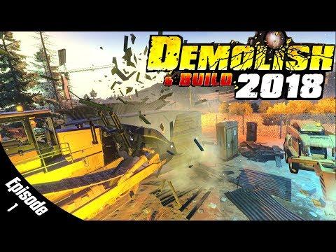 OPEN WORLD DEMOLITION GAME! - Demolish & Build 2018 - Simul8 Ep.1