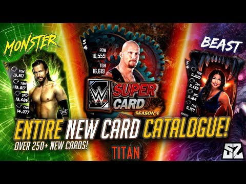 WWE SUPERCARD SEASON 4 - EVERY NEW BEAST, MONSTER AND TITAN CARD IN THE GAME!!