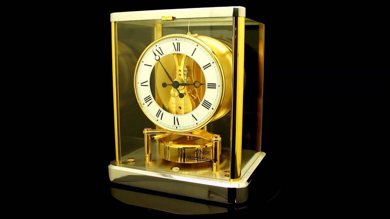 Rare Clock 2 Tone Jaeger Lecoultre Atmos 201 Lys 233 Es 540