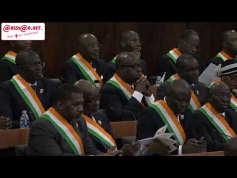 Nouvelle constitution: Le Chef de l`Etat Alassane Ouattara présente les grandes lignes aux députés
