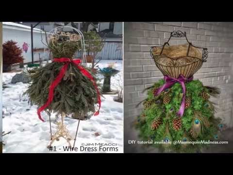 How To Guide for DIY Dress Form Christmas Trees