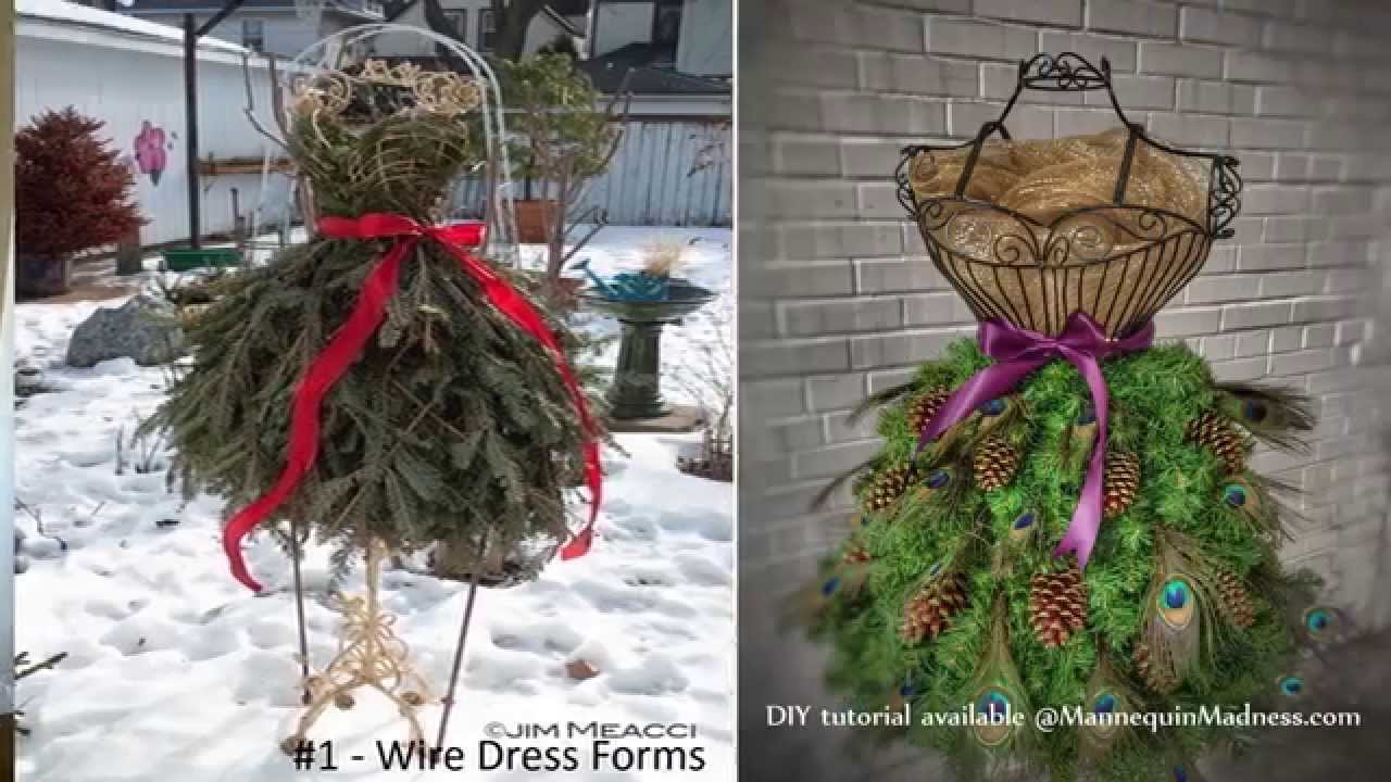 Christmas Tree Mannequin Dress.How To Guide For Diy Dress Form Christmas Trees