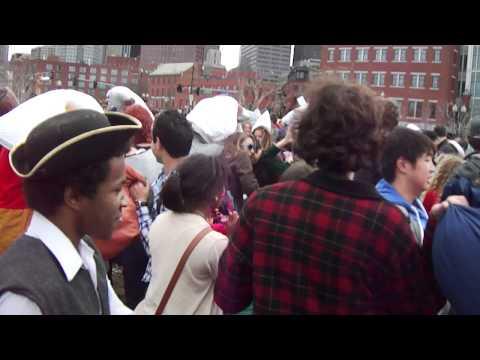 Boston - Pillow Fight Street (Haymarket) April 2012