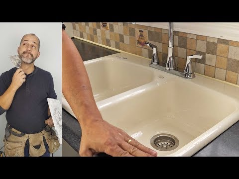 How To Install a New Kitchen Sink , Faucet and Drain