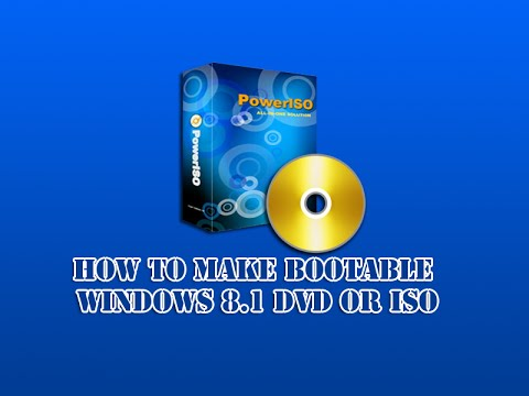 How to Make Bootable Windows 8.1 DVD or ISO