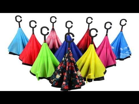 Зонт наоборот Ветрозащитный зонтик обратного сложения