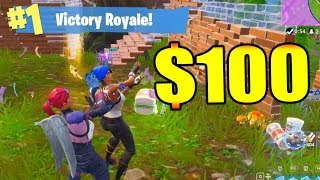 $100 BET w/ DAKOTAZ ON FORTNITE!!!