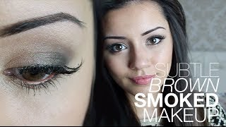 Tutorial | Subtle Brown Smoked Out Makeup | Kaushal Beauty Thumbnail