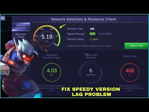 HOW TO FIX LAG IN SPEEDY VERSION | MOBILE LEGENDS