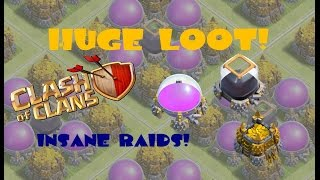 "Clash of Clans - ""Biggest Raids EVER?"" - Huge loot in CoC"