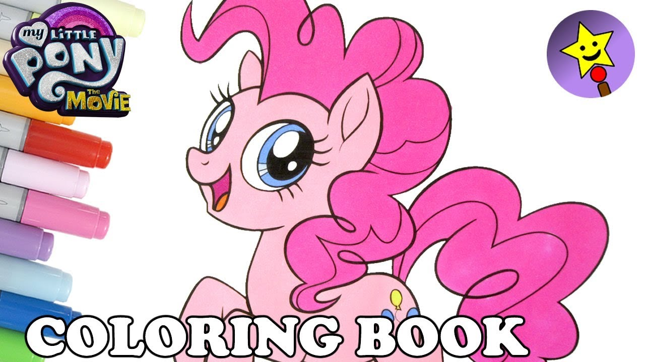 Pinkie Pie Coloring Book MLP My Little Pony The Movie Coloring Page ...