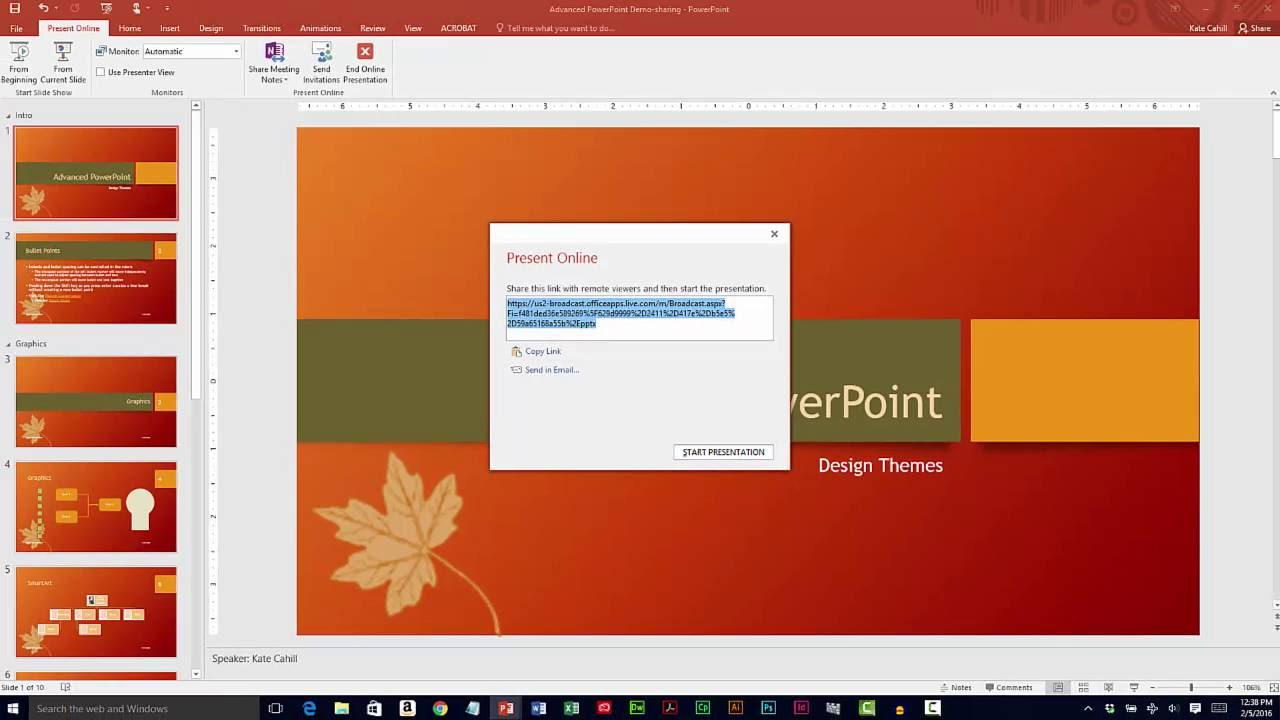 sharing microsoft powerpoint presentations youtube