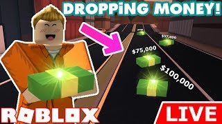 🔴DROPPING MONEY EVERYWHERE! - Roblox Jailbreak LIVE!