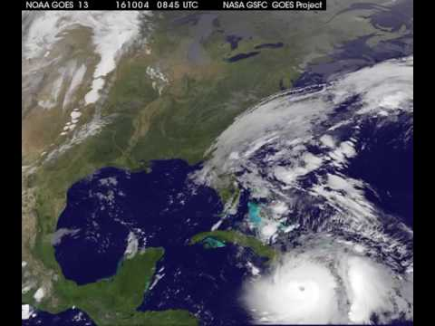 Satellite Animation Shows Hurricane Matthew Moving Toward Bahamas