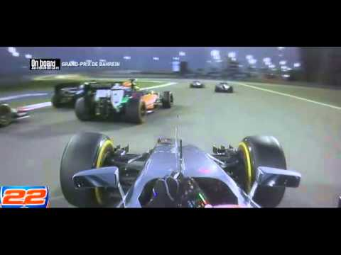 F1 2014 Bahrain - Jenson Button Onboard Start