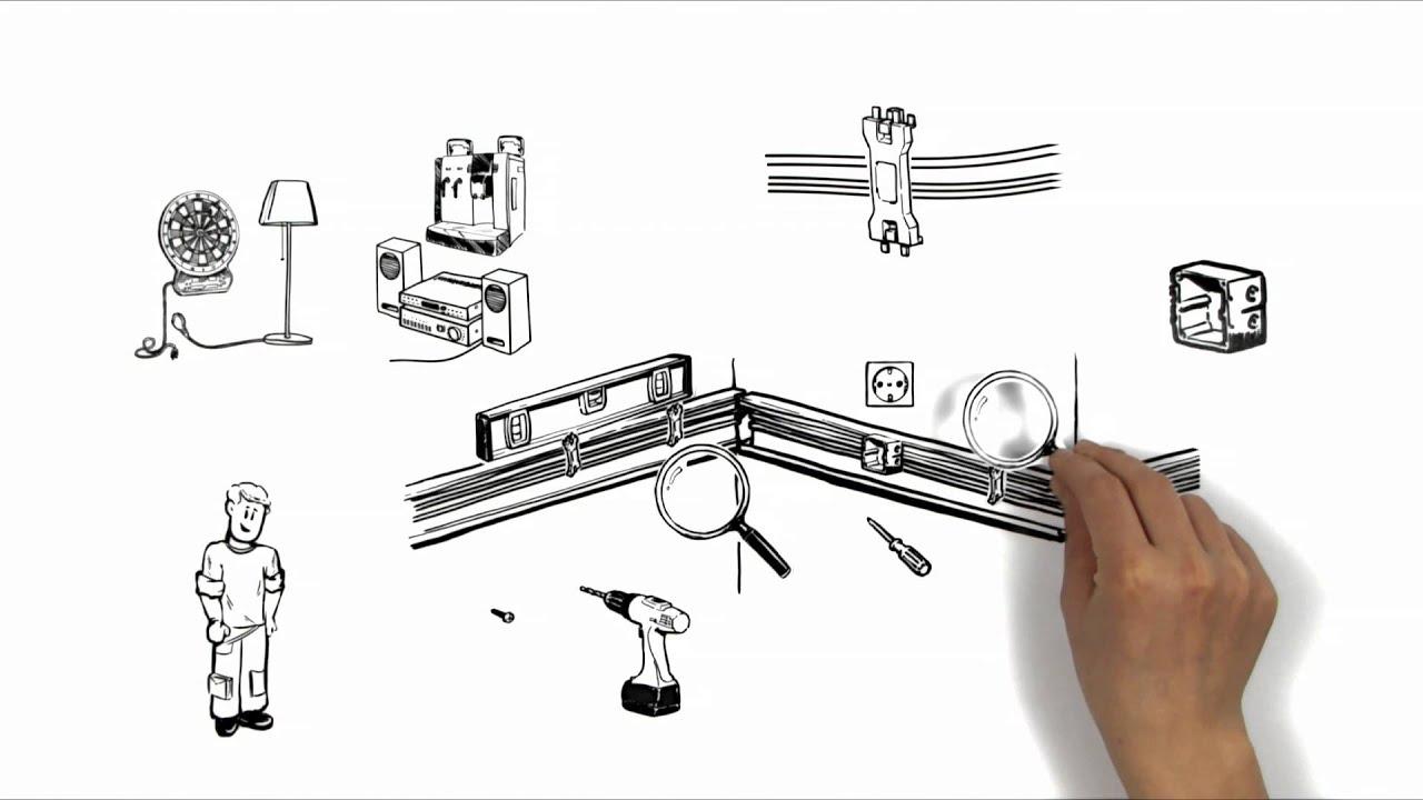 Simpleshow -Kabelkanal montieren- Beispiel ...
