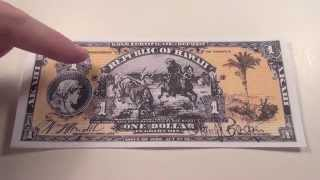 1895 $1 Republic of Hawaii Gold Certificate Note