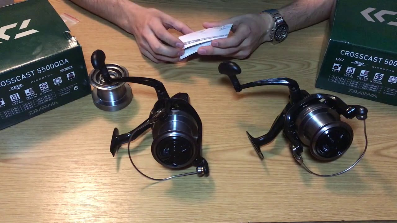 Daiwa Crosscast 5500QDA vs  Daiwa Crosscast 5000QDA Unboxing Review  Comparison