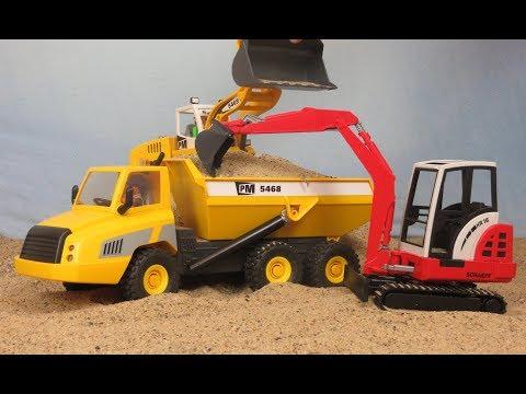 Playmobil Pelleteuse Camion de Chantier - Tractopelle avec Godet Film pour enfants