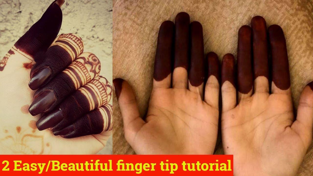Image result for 2 Wavy/Basic finger tip mehndi design tutorial|Beautiful finger tip mehndi design|Finger tip mehndi| Beautiful You