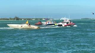 Horrible Crash involving 2 Race Boats in Key West
