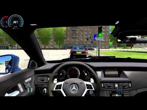 mercedes benz cls 63 amg city car driving 1 3 3 hd g27. Black Bedroom Furniture Sets. Home Design Ideas