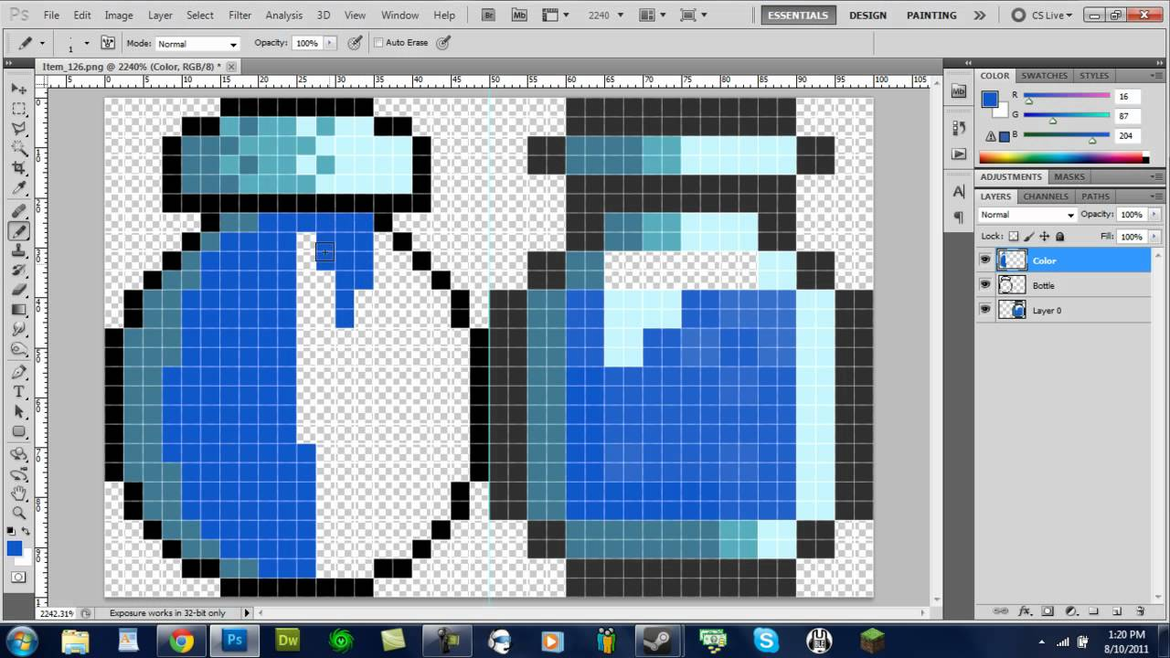 How To Make Pixel Sprites In Paint