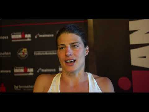 Sarah True Post Race Interview   Ironman Frankfurt