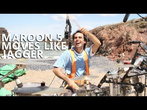 """Moves Like Jagger Drum Cover - Maroon 5 - Fede Rabaquino """"Outdoor Series"""""""