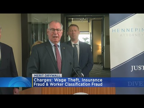 Hennepin Co. Attorney Announces Felony Charges Against Former Owners Of Drywall Company
