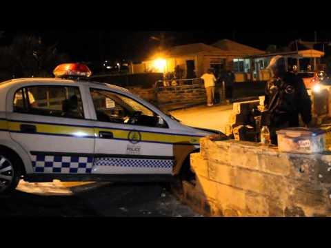 Crashed Police Car Removed Somerset Bermuda October 27 2011