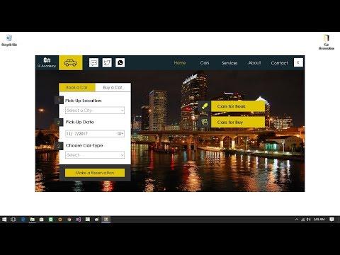 Designing a Modern Car Reservation Desktop App in Visual C#