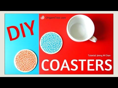 DIY Mod Podge Flower Coaster - Paper & Wood - No Resin - Collaboration with Craft Klatch