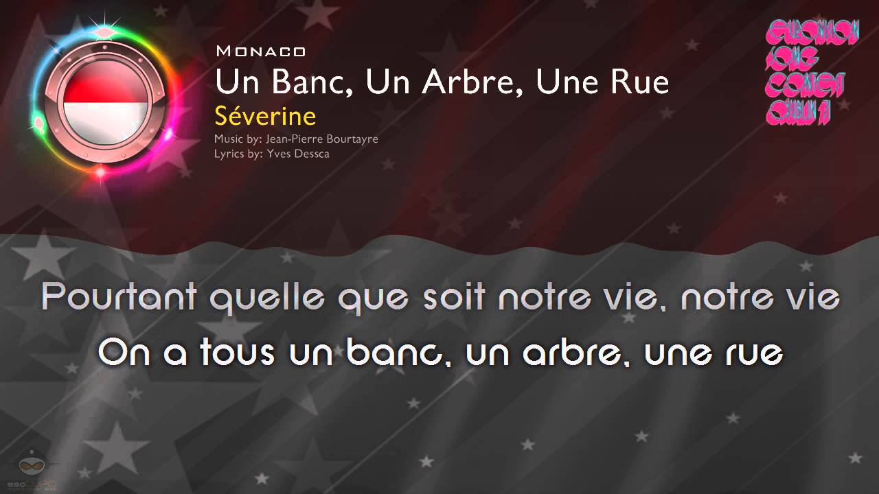 1971 Severine Un Banc Un Arbre Une Rue Monaco Youtube