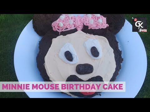 How to make Easy Minnie Mouse Birthday Cake|| Easy Minnie Mouse Mouse Cake Decorations