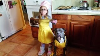 How To Make Chocolate Chip Cookies With A Girl And Her Dog!