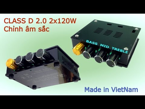 Bộ Khuếch Đại Âm Thanh Class D 2.0 2x120W Có Chỉnh Âm Sắc - [LinhKienViet.vn]
