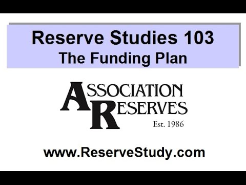 Reserve Studies 103 - The Funding Plan (2015)