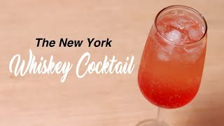 The New York Whiskey Cocktail Recipe an Easy Homemade Party Drink by Cooking Simplified