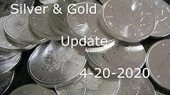Silver & Gold Update 4 20 2020 Plus Precious Metals News Articles