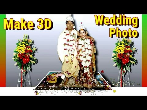 How to make 2D to 3D Wedding Photo in Android (No 3D Glasses)